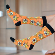 Load image into Gallery viewer, Rick and Morty Collectibles | Squanchy the Cat Orange Crew Socks
