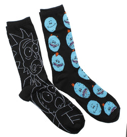 Rick And Morty Black Crew Sock OSFM