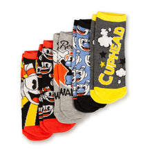 Load image into Gallery viewer, Cuphead Collectibles Adult Ankle Socks | Cuphead & Mugman Wallop Socks | 5 Pack