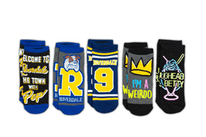 Riverdale Quotes Design Novelty Low-Cut Ankle Socks for Men & Women - 5 Pairs