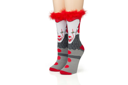 IT Pennywise Athletic Crew Socks - Tube Socks for Adults with 3D Print - 1 Pair