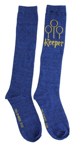 Harry Potter Quidditch Women's Knee High Socks, Keeper (Blue)