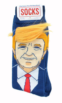Donald Trump Collection | Trump with Hair Crew Sock Exclusive|Sizes 6 - 12