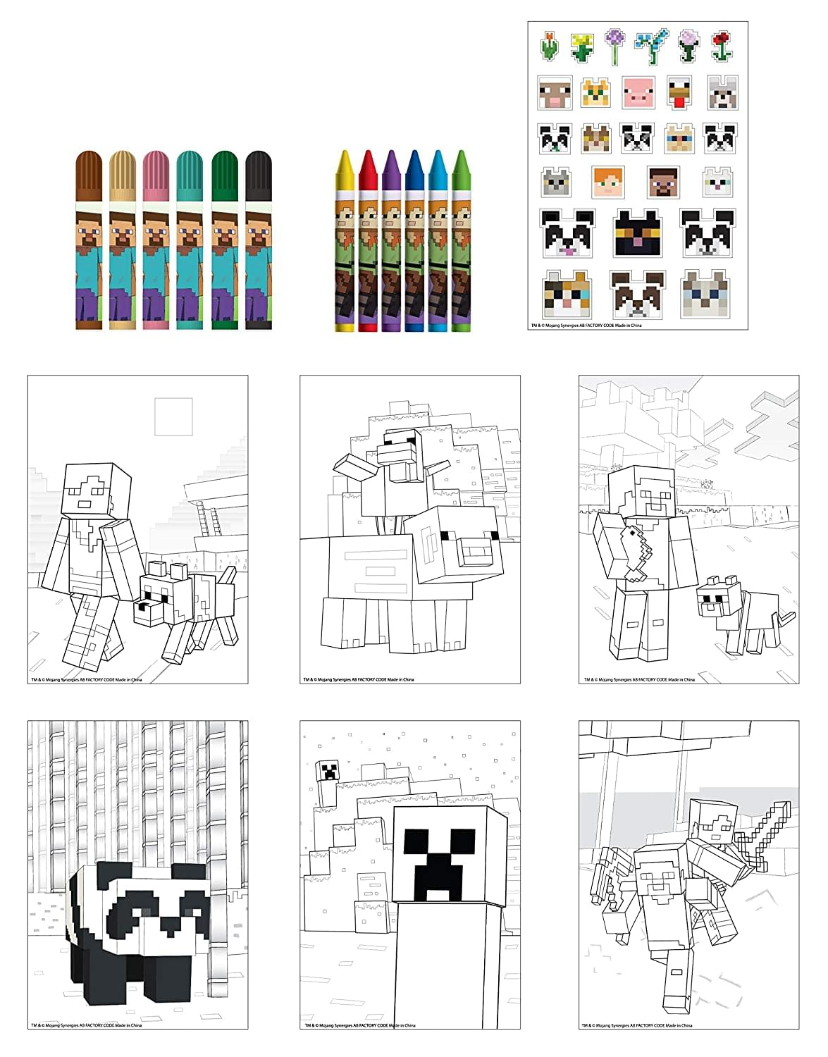 Minecraft Activity Egg Craft Kit | Coloring Pages | Stickers | Markers | Crayons