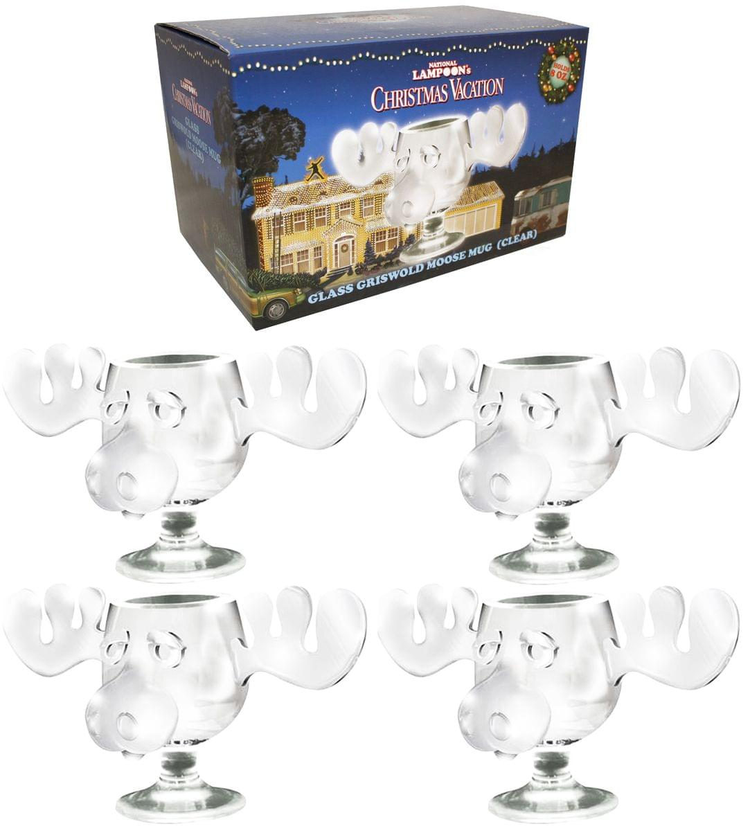 national lampoons christmas vacation griswold moose mug 8oz glass set - Christmas Vacation Moose Mug