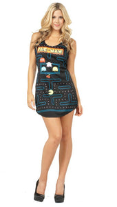Pac-Man Video Game Screen Tank Dress Adult Costume Standard