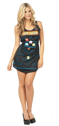 Pac-Man Video Game Screen Tank Dress Adult Costume
