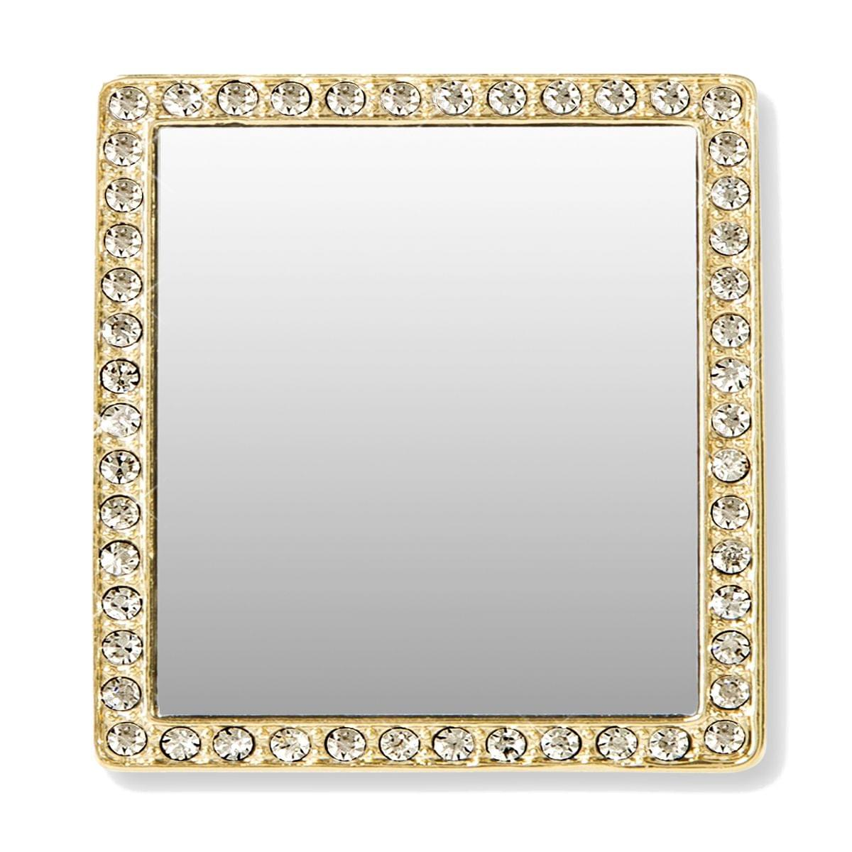 Idecoz Phone Mirror Gold Square W Crystals Free Shipping Toynk Toys