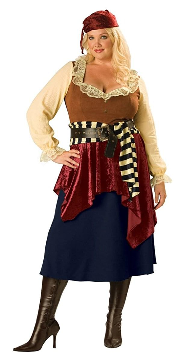 Buccaneer Beauty Women's Costume, Plus 3X