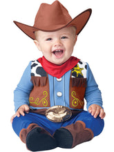 Load image into Gallery viewer, Wee Wrangler Cowboy Costume Child Infant 0-6 Months