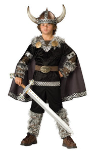 Viking Warrior Boy Pants & Cape Designer Costume Child
