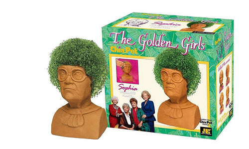 Golden Girls Chia Pet Sophia Decorative Pottery Planter