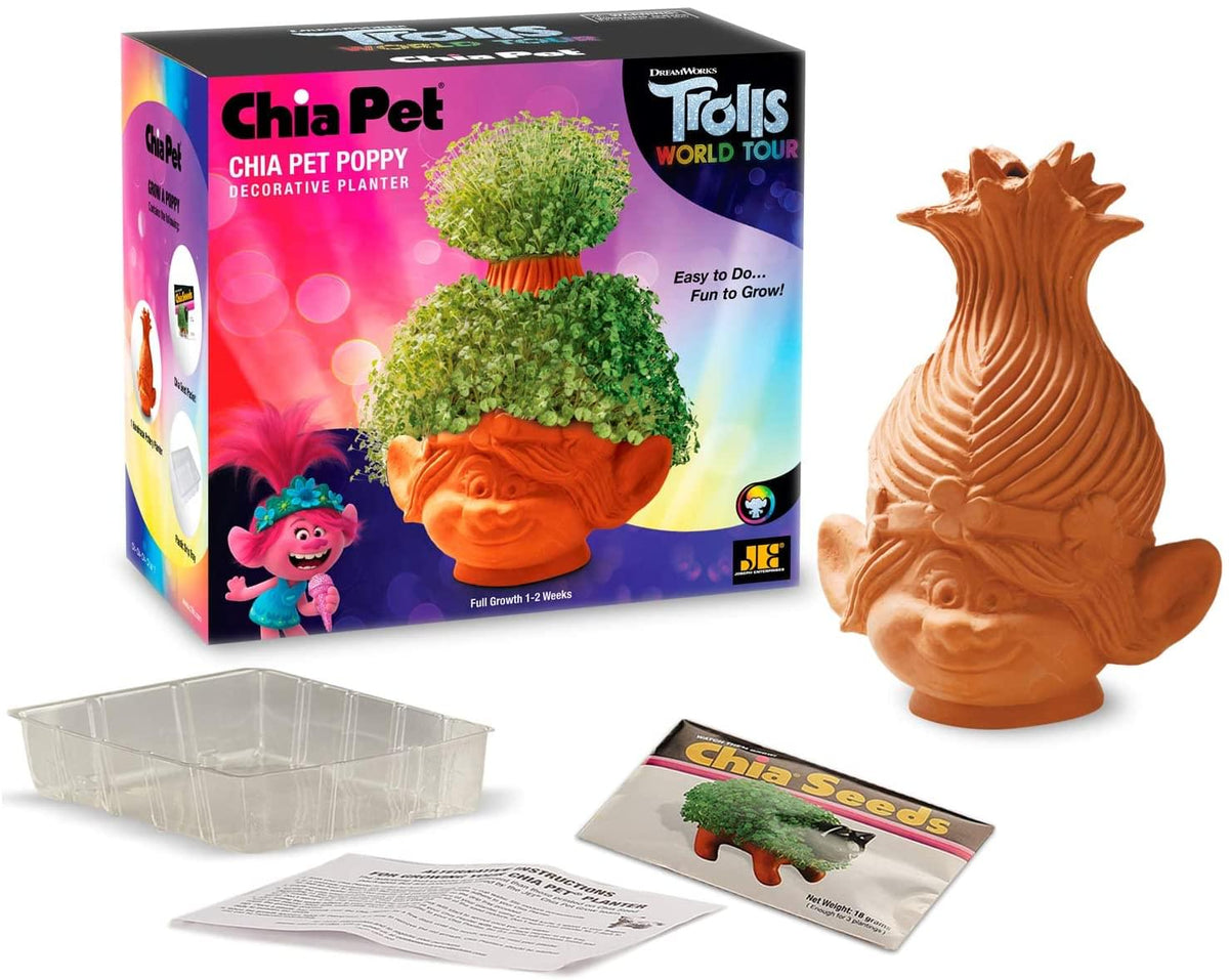Trolls World Tour Poppy Chia Pet Decorative Planter