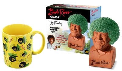 Bob Ross Chia Pet & Happy Trees Mug Gift Set