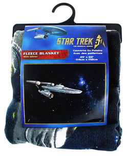Star Trek Enterprise Glitter Lightweight Fleece Throw Blanket | 45 x 60 Inches