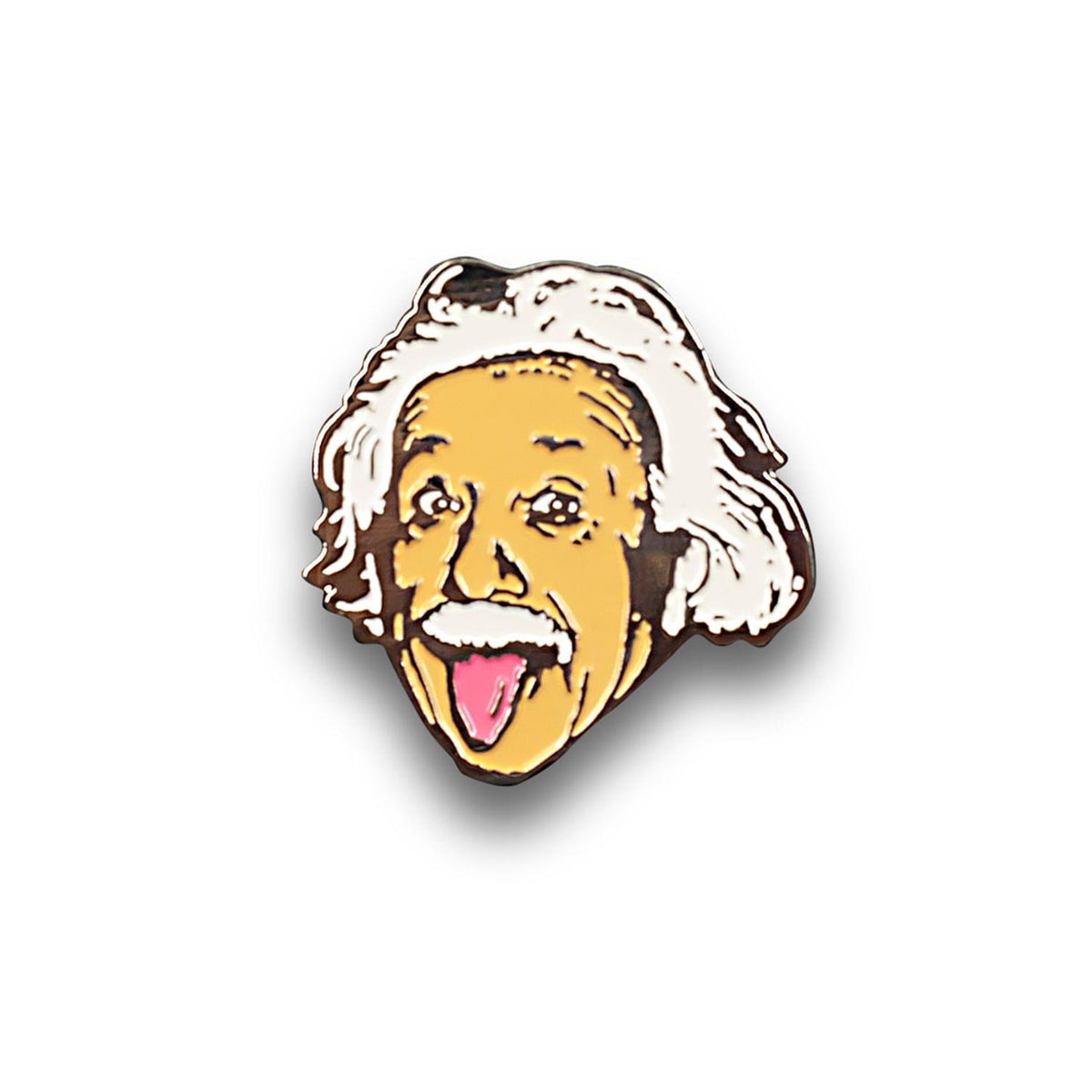 Albert Einstein Tongue Out Enamel Pin | Official Einstein Collectible Poster Pin