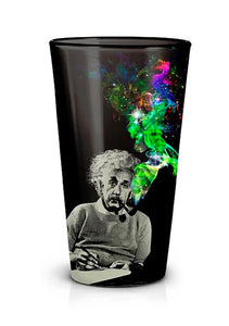 "Albert Einstein Bundle: 45""x60"" Fleece Throw Blanket, Collector Pin, Pint Glass"