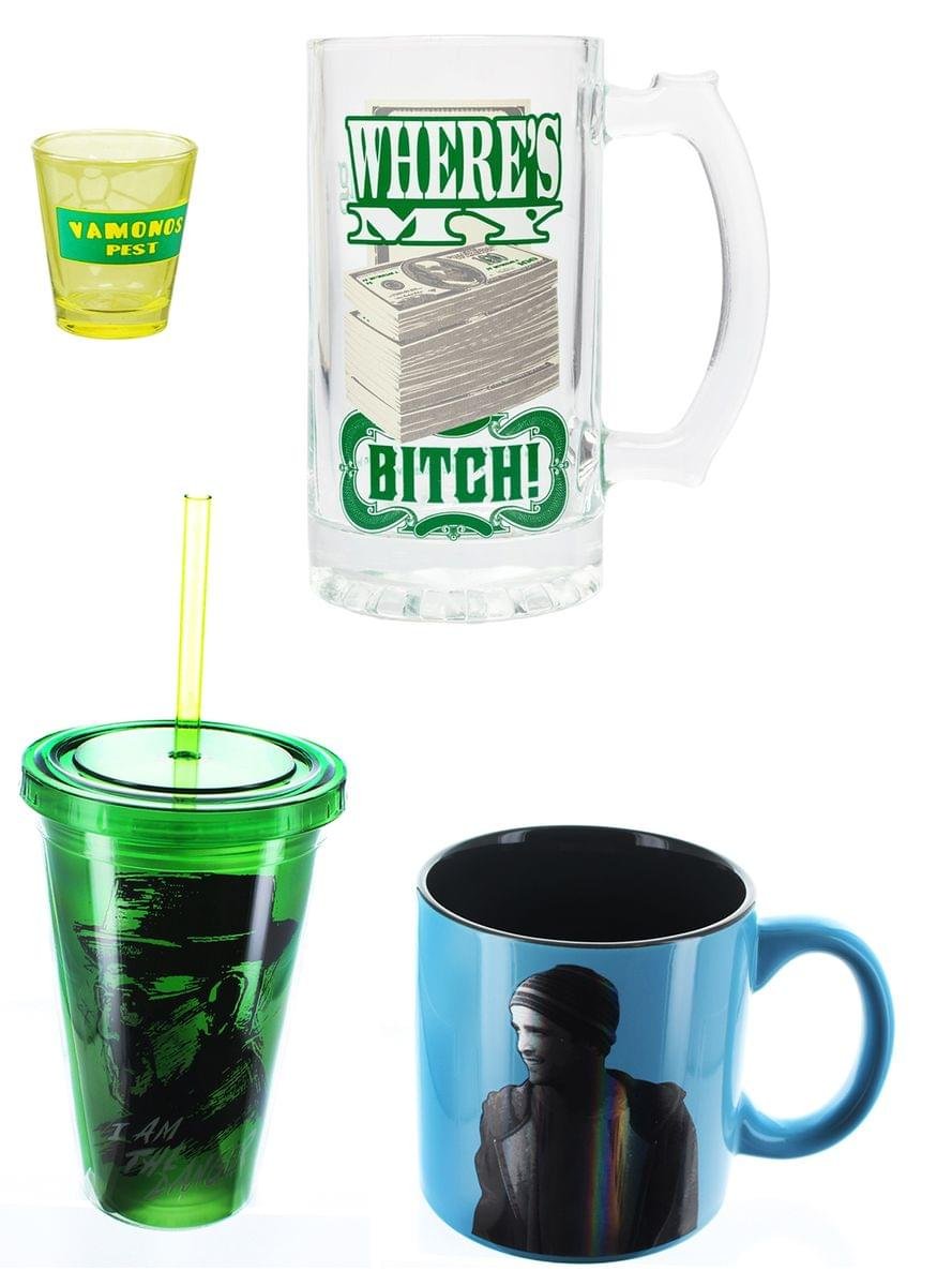 Breaking Bad Drinkware Bundle: Shot Glass, Mugs, Carnival Cup