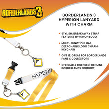 Load image into Gallery viewer, Borderlands 3 Hyperion Lanyard with Charm