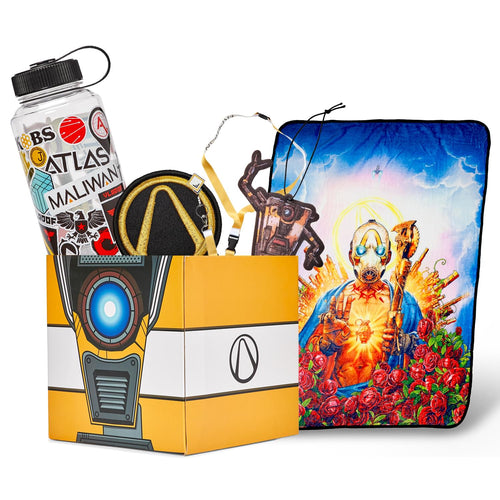 Borderlands LookSee Mystery Gift Box #2 | Psycho Blanket | Lanyard | Water Bottle | More
