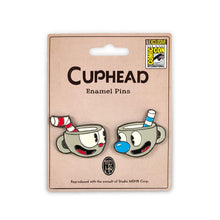 Load image into Gallery viewer, Cuphead Enamel Collector Pin 2 Pack| San Diego ComiCon 2017 Exclusive
