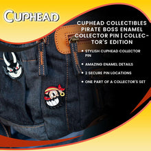 Load image into Gallery viewer, Cuphead Collectibles Pirate Boss Enamel Collector Pin | Collector's Edition