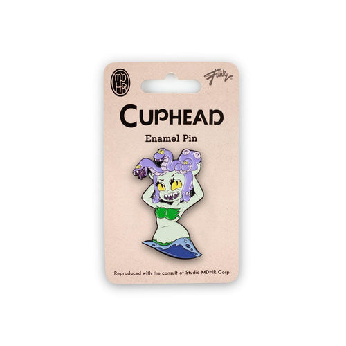 Cuphead Collectibles| Exclusive Cuphead Medusa Enamel Collector Pin