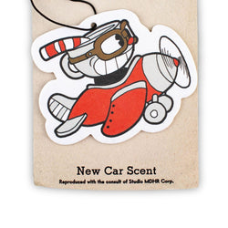 Cuphead Double-Sided Airplane Air Freshener (New Car Scent)