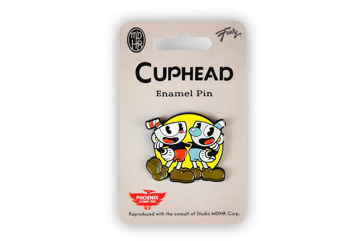 Cuphead & Mugman Pin | Official Cuphead Collectible Pin | Measures 2 Inches