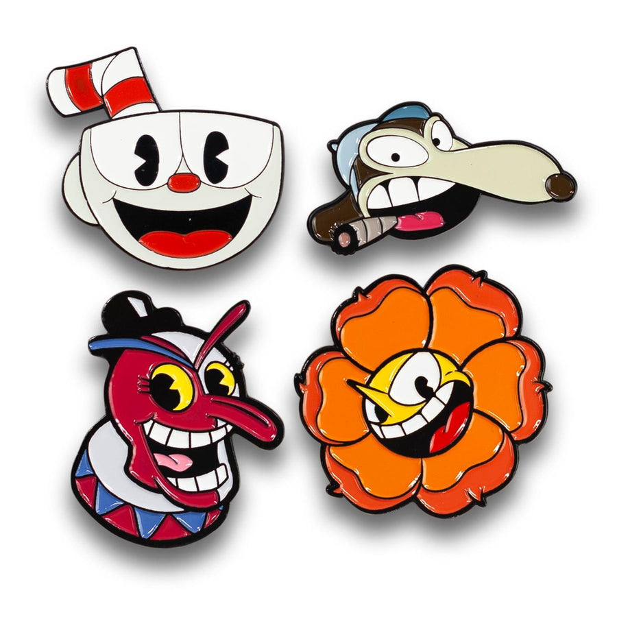 Cuphead Exclusive Enamel Collector Pin 4-Pack