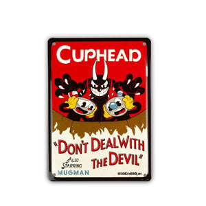 Cuphead Collectibles | Cuphead Don't Deal With The Devil Tin Sign