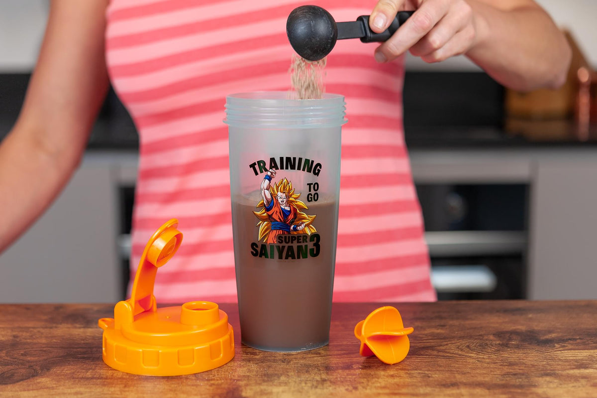 Dragon Ballz Super Saiyan Goku Gym Shaker Bottle