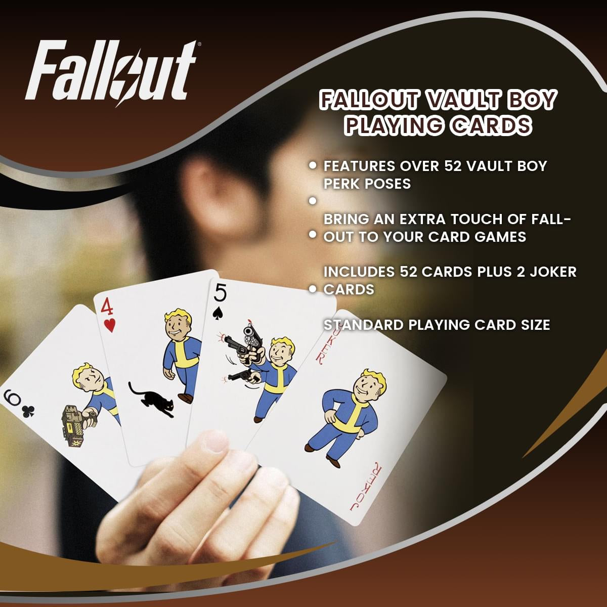 Fallout Vault Boy Playing Cards