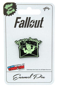 "Fallout ""You Are Invited"" Glow In The Dark Enamel Collector Pin"