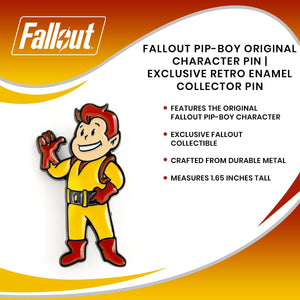 Fallout Pip-Boy Original Character Pin | Exclusive Retro Enamel Collector Pin
