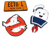 Ghostbusters Enamel Pin 3-Pack Set: No Ghosts, Stay Puft, Ecto-1 (NYCC'17 EXCL)