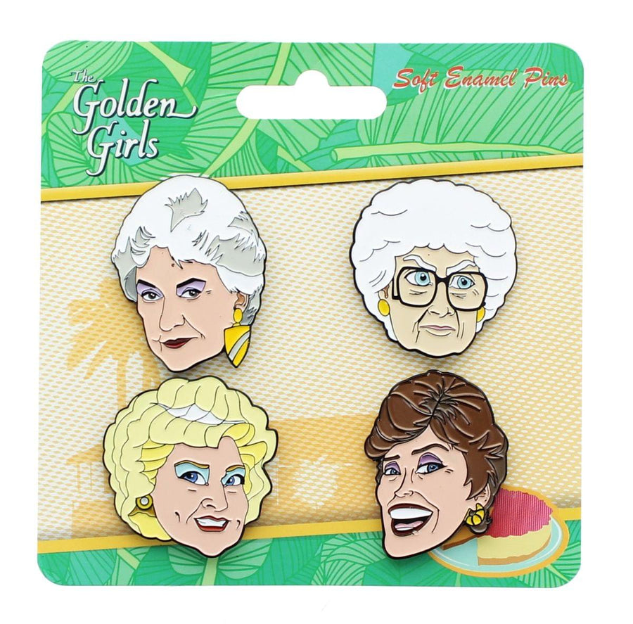Golden Girls 4-Piece Enamel Collector Pin Set