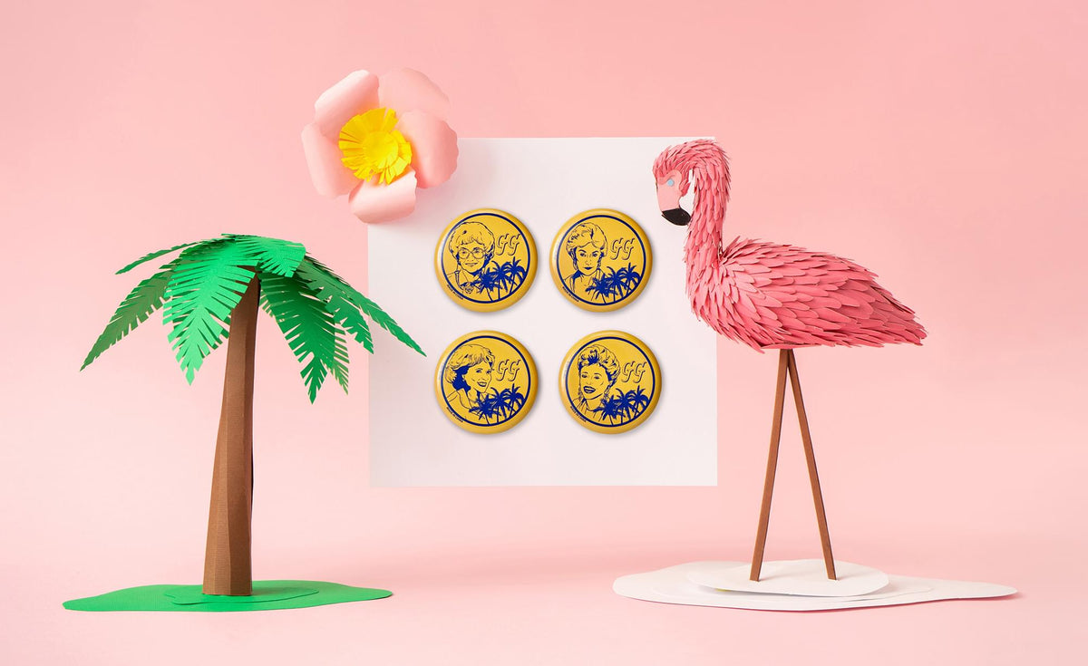 The Golden Girls Button Pin Set | Exclusive Dorothy, Rose, Blanche & Sophia Pins