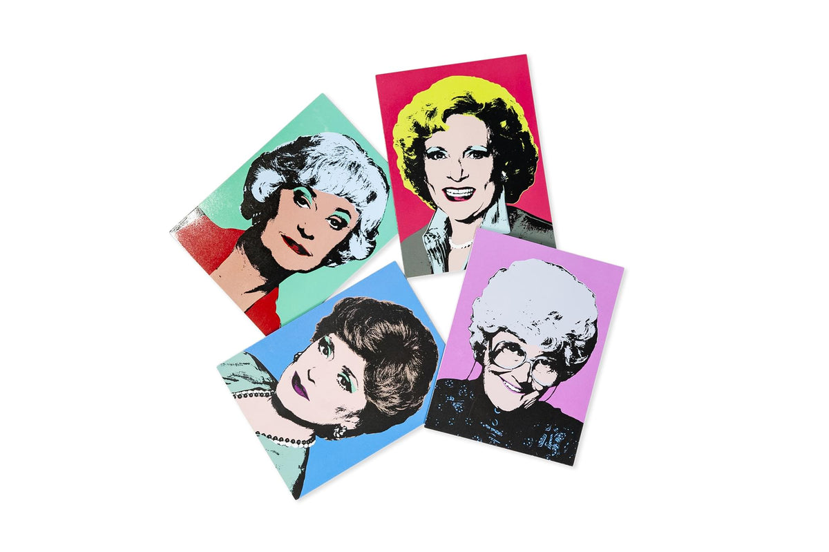 The Golden Girls Collectible Warhol Art Style 4-Magnet Set | 4-Inch Tall Magnets