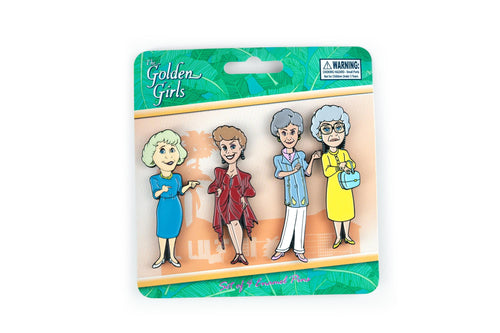 The Golden Girls 4-Piece Enamel Pin Set | Rose | Blanche | Sophia | Dorothy | Toynk Exclusive