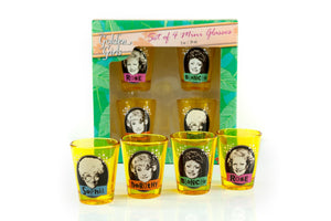 The Golden Girls Official Shot Glass Collectible Set | Each Holds 2 Ounces