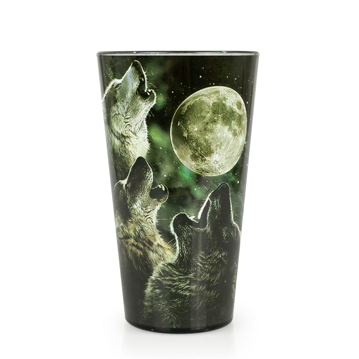 Wolf Pack Howling At The Moon 16oz Pint Glass