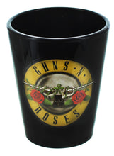 Load image into Gallery viewer, Guns N Roses Logo 2oz Black Shot Glass