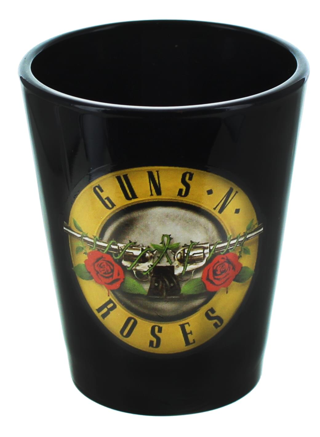 Guns N Roses Logo 2oz Black Shot Glass