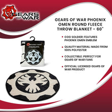 Load image into Gallery viewer, Gears of War Phoenix Omen Round Fleece Throw Blanket - 60""