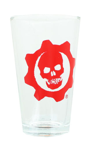 Gears of War Crimson Omen 16oz Clear Pint Glass