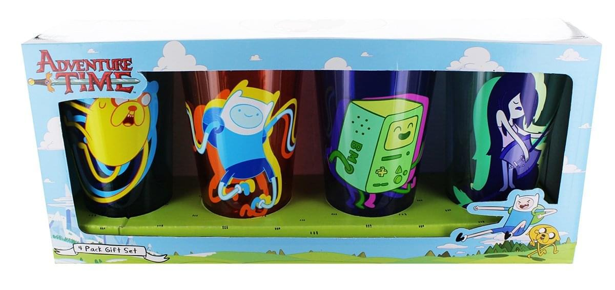 Adventure Time 4 Pack Pint Glass Set