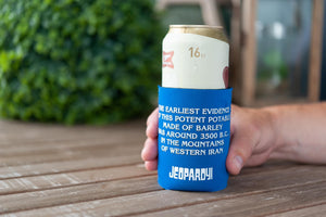 Jeopardy What is Beer Foam Can Koozie