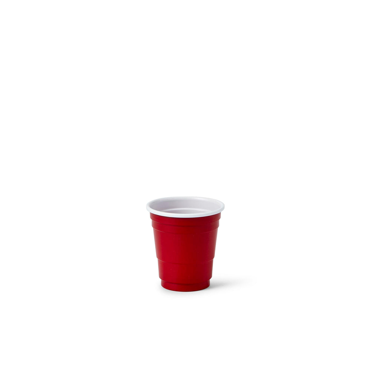 20 Pack Shot Glasses - 1.5 oz Acrylic Party Cup - Red Plastic Shot Glass