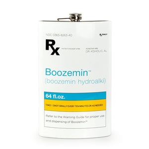 RX Boozemin 64 Ounce Oversized Stainless Steel Flask
